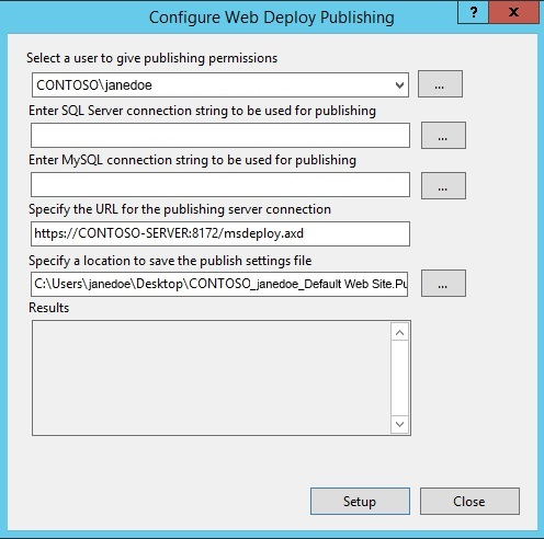 Configure Web Deploy Publishing