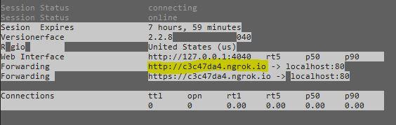 Exposing your local webserver, testing integration external